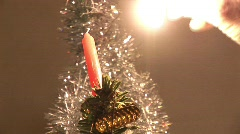 Christmastree with candle -5 Stock Footage