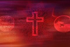 Red Religious Symbols Stock Footage