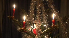 Chritsmastree with candels Stock Footage