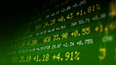 Seamlessly loopable stock exchange data board. HD720 progressive. - stock footage