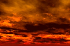 Orange Fractal Sky 1 - stock footage