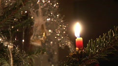 Christmastree with candle -8 Stock Footage