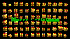 Dancing Xmas Boxes - Merry Christmas 02 (HD) Stock Footage