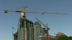 Cranes moving Stock Footage