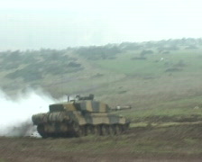 Stock Video Footage of Tank Firing Challenger
