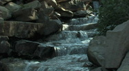 Stock Video Footage of Alpine Garden Waterfall C.U.