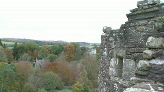 Views from Doune Castle, Scotland Stock Footage