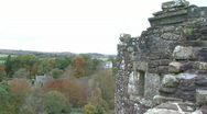 Stock Video Footage of Views from Doune Castle, Scotland