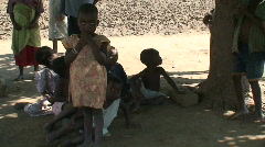Malawi: african children in a willage Stock Footage