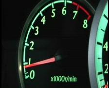 tachometer - stock footage