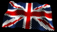 Flag of United Kingdom 05 (HD) Stock Footage