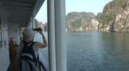 Stock Video Footage of Cruising in Ha Long Bay, Vietnam