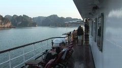 Onboard cruise ship, Vietnam Stock Footage