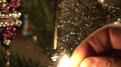 Christmastree with sparkler -1 Stock Footage
