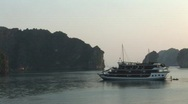 Stock Video Footage of Cruise ship sailing, Vietnam