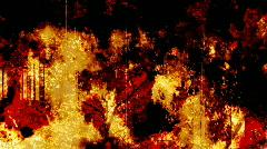Red Orange grunge background  - stock footage