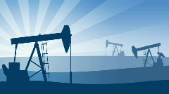 Oil pumps. Loopable. HD1080 progressive. Stock Footage