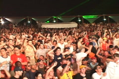 Giant Concert Crowd - stock footage