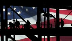 Americans at work composite - stock footage