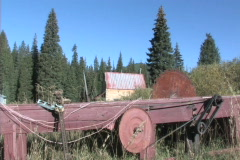 Old Saw Mill - Zoom In Stock Footage