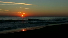 Sunrise over the  ocean surf with audio Stock Footage