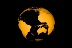 Transparent Rotating Earth Globe  Stock Footage