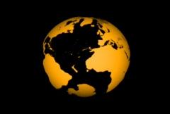 Transparent Rotating Earth Globe  - stock footage