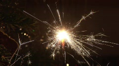 Christmastree with sparkler -5 Stock Footage