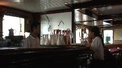 Vietnamese cruise ship bar employees Stock Footage