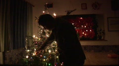 Christmastree with candles Stock Footage