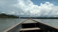 Boating Napo River in the Ecuadorian Amazon Stock Footage