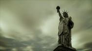 Freedom Welcomes All Zoom HD720 Stock Footage