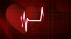 Beating heart 2, HD 720 - stock footage