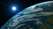 Blue Earth rotate, HD 720 Stock Footage