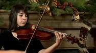 Stock Video Footage of girl playing violin closeup