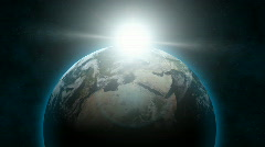 Earth & Sun Aligned (30fps) - stock footage