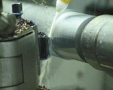 CNC milling machines (Close Up) - stock footage