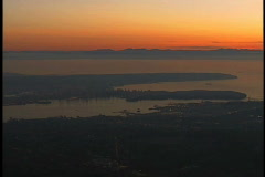vancouver aerial gyro 37 - stock footage