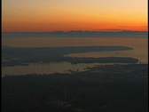 Vancouver aerial gyro 37 Stock Footage