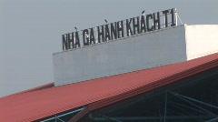 Hanoi airport terminal 1 - stock footage
