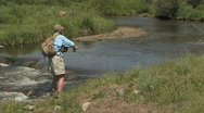 Stock Video Footage of Flyfishing 1
