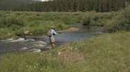 Stock Video Footage of Flyfishing 2