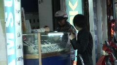 Cellphone shopping, Vietnam Stock Footage