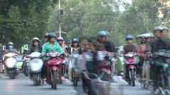 Rush hour traffic timelapse, Vietnam Stock Footage