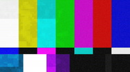Color Bars Signal Interference (30fps) Stock Footage