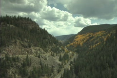 Highway Thru The Mountains - stock footage