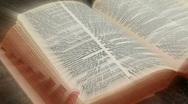 Bible light burst Stock Footage