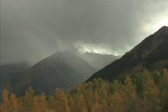 Storm Over The Mountain Stock Footage