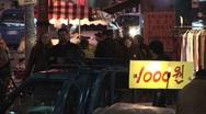 Stock Video Footage of Korean street market