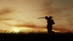 Samurai at Sunset  (HD720) Stock Footage
